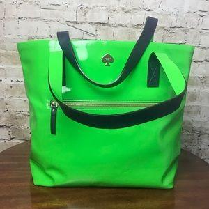 Kate Spade ♠️ Shamrock Green 🍀 Patent Bon Shopper